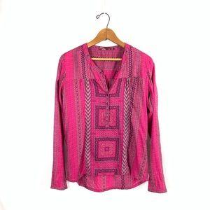 PrAna Inka Henley Pink Shirt size S